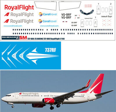 Boeing 737-800 EGYPTAIR Zvezda decal for Revell 1:144 PAS-Decals #737800-30