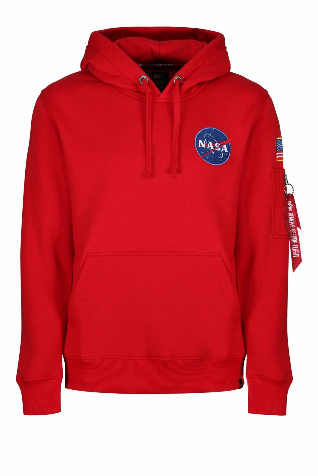Mens Hoody ALPHA INDUSTRIES Limited Edition Space Shuttle OTH Hoodie | Speed Red