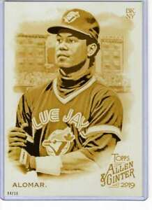 Roberto-Alomar-2019-Allen-and-Ginter-5x7-Gold-67-10-Blue-Jays