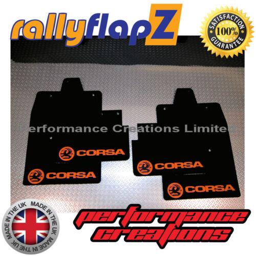 RallyflapZ per adattarsi VAUXHALL CORSA C 00-07 Antibeccheggio Nero Con Logo Arancione 4 mm PVC