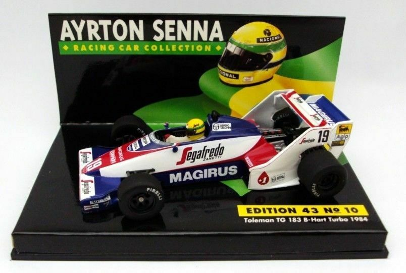 TOLEMAN TG 183 B Hart 1984  Ayrton Senna collection   10 Minichamps 1 43 NEUF