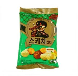 Korean-Lotte-Premium-SCOTCH-TRIO-CANDY-157g-Coffee-Butter-Banana-3flavors