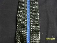 Aluminum Lawn Chair Replacement Webbing 39ft New, 2 1/4in Wide Black Blue Stripe
