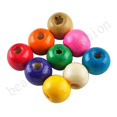 Wholesale 200 Pcs Round Wood Spacer Loose Beads Charms Accessories jewelry 8 mm
