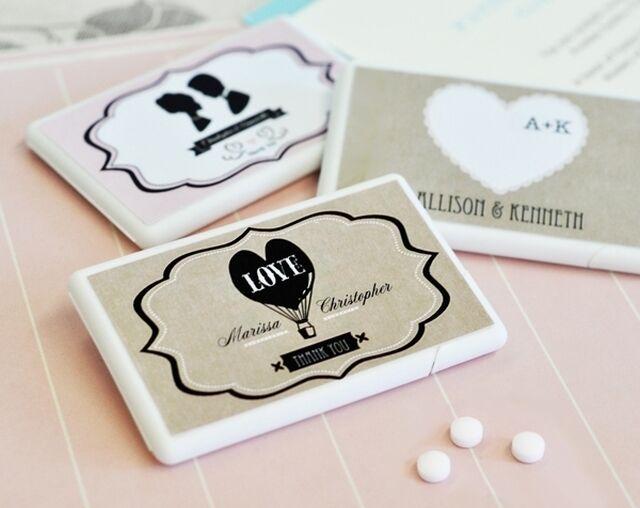 Personalized Vintage Mint Bridal Baby Shower Wedding Favor 25-50-96-150-200