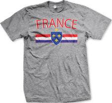 France World Cup Olympics French Pride Stripe Crest Flag Mens Hoodie Sweatshirt