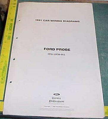 ford probe wiring diagrams 1991 ford probe wiring diagrams manual ebay  1991 ford probe wiring diagrams manual