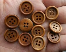 20pcs light brown color 4Holes Wood Buttons Sewing 15mm