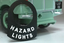 Land Rover Series 1 2 2a 2b 3 Metal Switch Tab Badge Decal Label Hazard Lights
