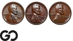 1941-1942-amp-1942-D-Lincoln-Cent-Wheat-Penny-3-Coin-Lot