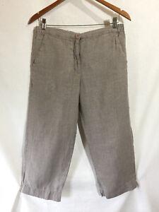 Engelhart Hør Naturlig Shapely Pants Beskåret Ben Bred Linen P Capri Beige Jeanne TqAq7rp5