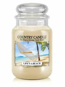 ☆☆LIFE'S A BEACH☆☆ LARGE COUNTRY CANDLE JAR 23OZ.~☆☆SUMMER SCENT
