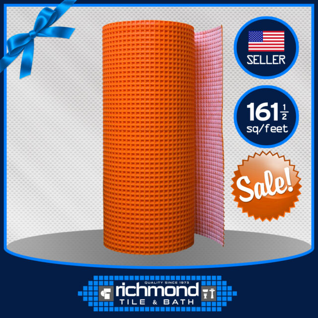 Schluter Systems Ditra Membrane 1//8 Underlayment 150 SQ FT Roll