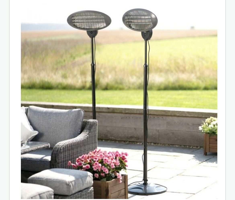 2x 2KW Electric Quartz Outdoor Free Standing Patio Heater Garden- FREE DELIVERY✅