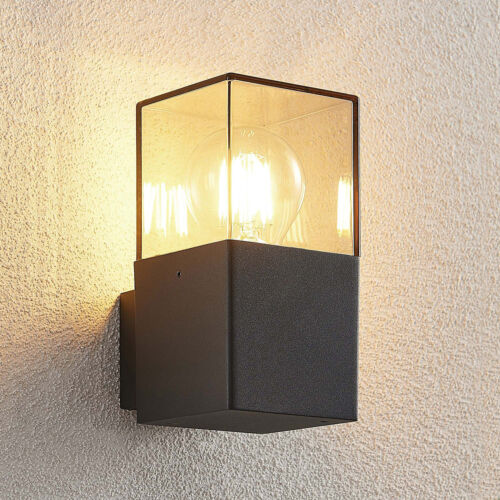 Lucande Keke Außenwandleuchte Außenleuchte Wandlampe grafitgrau Aluminium