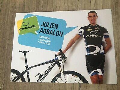 Carte Karte Julien ABSALON cycling radsport 10x15cm Olympic champion