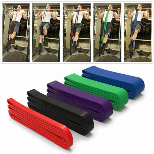 Pull Up Resistance Body Stretching Band Loop Power Gym Exercise Fitness Yoga Hot