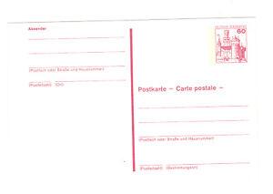 2-Auslands-Postkarten-1979-60-Pf-Marksburg-dichter-Beidruck