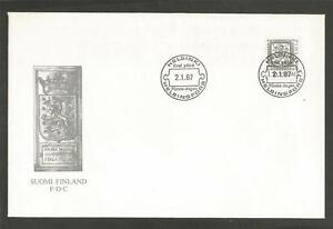 FINLAND-1987-Lion-FIRST-DAY-COVER