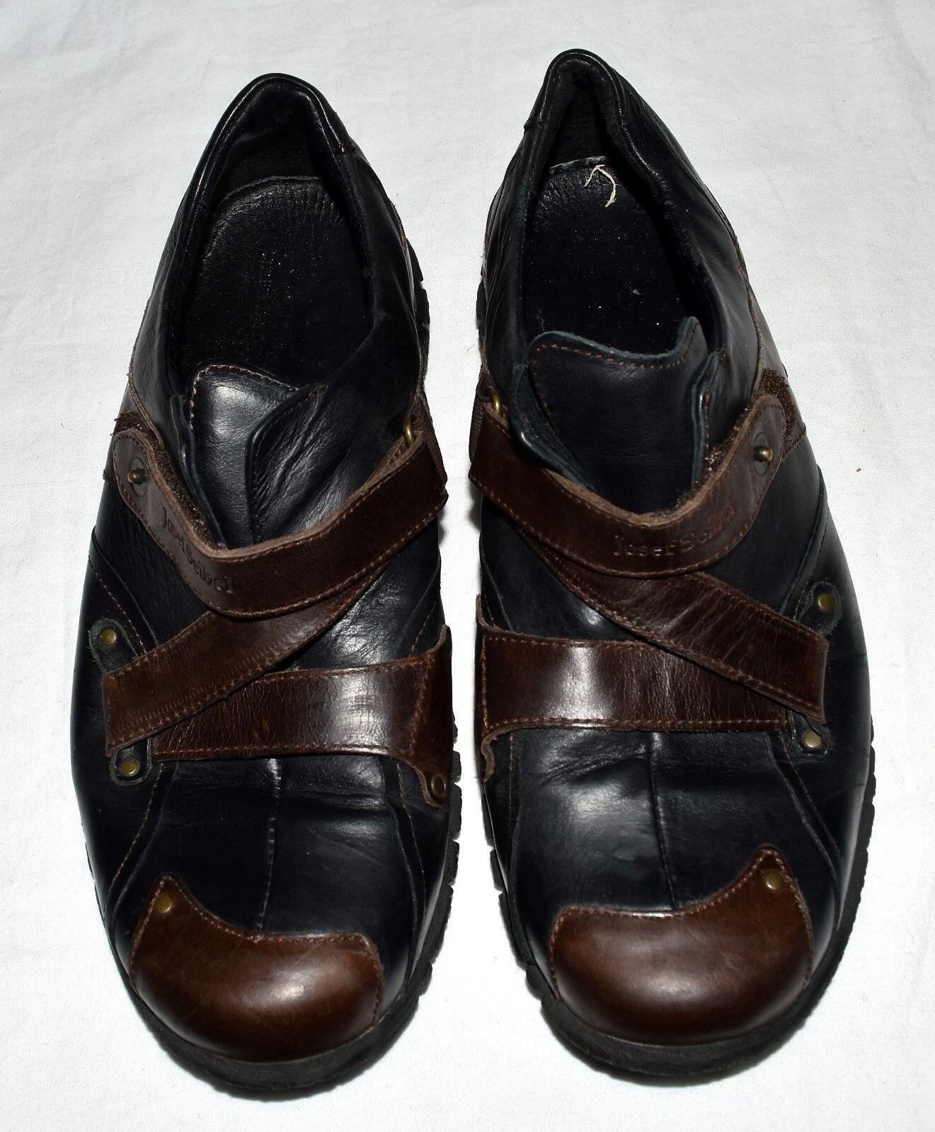 Josef Siebel European Comfort Black & Brown Leather Womens shoes Eur 38 US 7.5 M