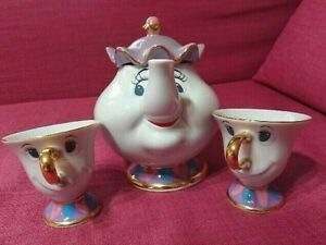 Beauty-and-the-Beast-Tokyo-Disney-Resort-Land-Mrs-Potts-Tea-Pot-amp-Chip-Cup-Set