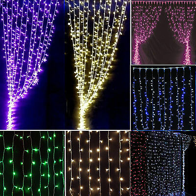 4M LED String Fairy Lights Indoor/Outdoor Garden Curtain Christmas Party Wedding
