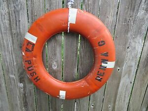 30 inch UGLY LIFE PRESERVER RING SAVER FLOAT BUOY BOUY (#69)