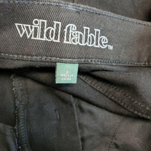 Wild Fable Womens High Rise Denim Bermuda Shorts Sz 2 Black Raw Hem