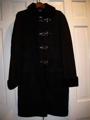 NEW Ralph Lauren Blue Label BLACK SHEARLING Coat Medium