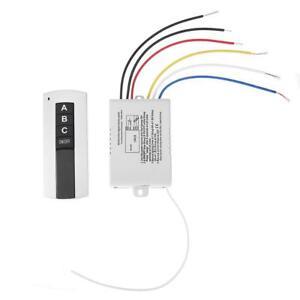 220V 3-Kanal Funkfernbedienung digitale Schalter für Lampe