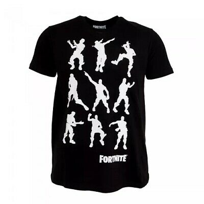Fortnite Dance Moves Emotes Graphic Print T Shirt Mens Adults Size Xl Black Nwt Ebay