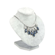 1pc Necklace Pendant Display Rack Bust Jewelry Display Stand Holder Gray