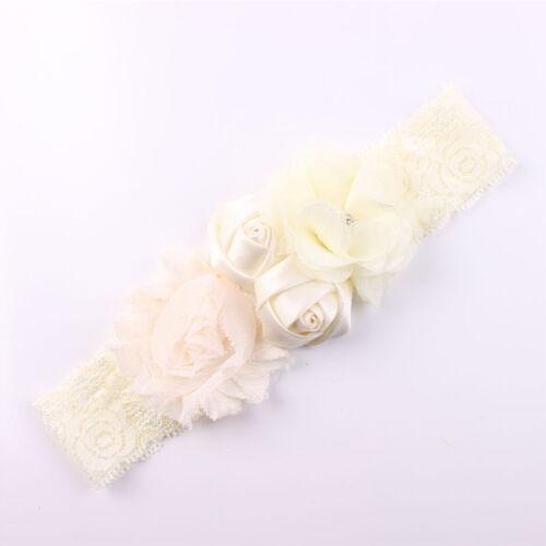 Shabby Lace Baby Headband Chic Flower Girls Headband Hair Bow Flower Headband