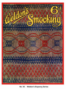 Weldon-039-s-6D-35-c-1920-039-s-Vintage-Sewing-for-English-Smocking-Patterns