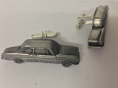 Peugeot 404 Coupe  classic car pewter effect cufflinks ref176