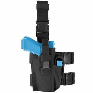 Condor-TLH-002-Black-Tactical-Drop-Leg-Pistol-amp-Magazine-Holster-Double-Straps