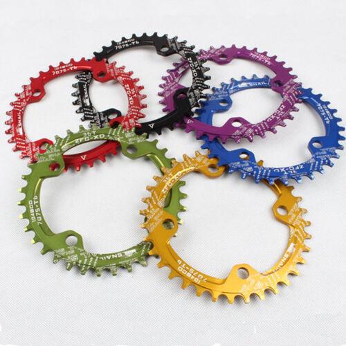 32T//34T//36T Narrow Wide MTB Bike Chainring 104BCD Round Oval Single Chainwheel