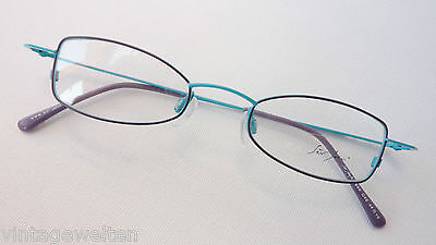 Dynamisch Sirjohn Marken Brillenfassung Dünnrandig Leicht Türkis-blau Metallrahmen Size M StraßEnpreis