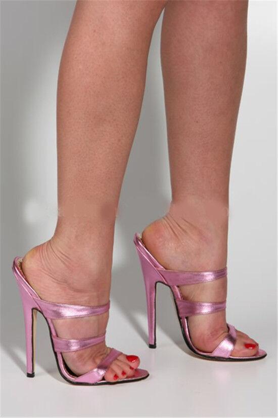 prezzi più bassi Pantofola Donna Tacco Alto Alto Alto Peep Toe Open Muli Sandalo Sexy Nightclub BIG Tg UK  consegna e reso gratuiti