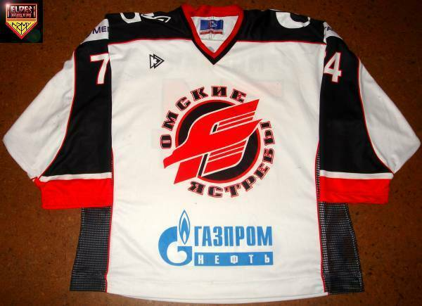 Avangard Omsk * 06/07 * No. 74 * Norm Maracle * white/home * good wear *