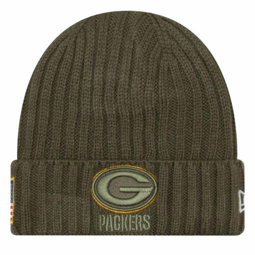 New Era Salute to Service Wintermütze Green Bay Packers