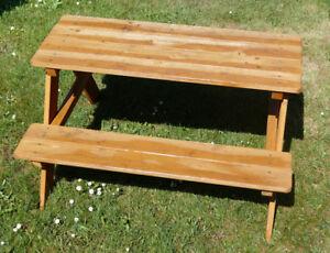 Holz Kinder Sitzbank Gartentisch Set Tisch Bank Kindermöbel Garten
