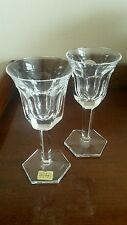 A Pair Of The Finest Crystal Wine/Cordial Glasses From Moser