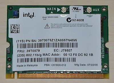 Wireless WLan  Intel WiFi für IBM ThinkPad X40 T21 T22 T23 T40 T40p T41p T42