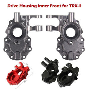 2x-Aluminum-Alloy-Portal-Drive-Housing-Inner-Front-For-Traxxas-TRX-4-1-10-RC-Car