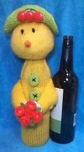 Tejer patrón-Chick cubierta de Botella de vino  </span>