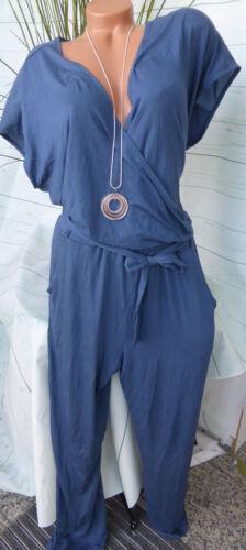 369 Sheego Jumpsuit Anzug Gr 44 und 58 Blau Ton Übergröße