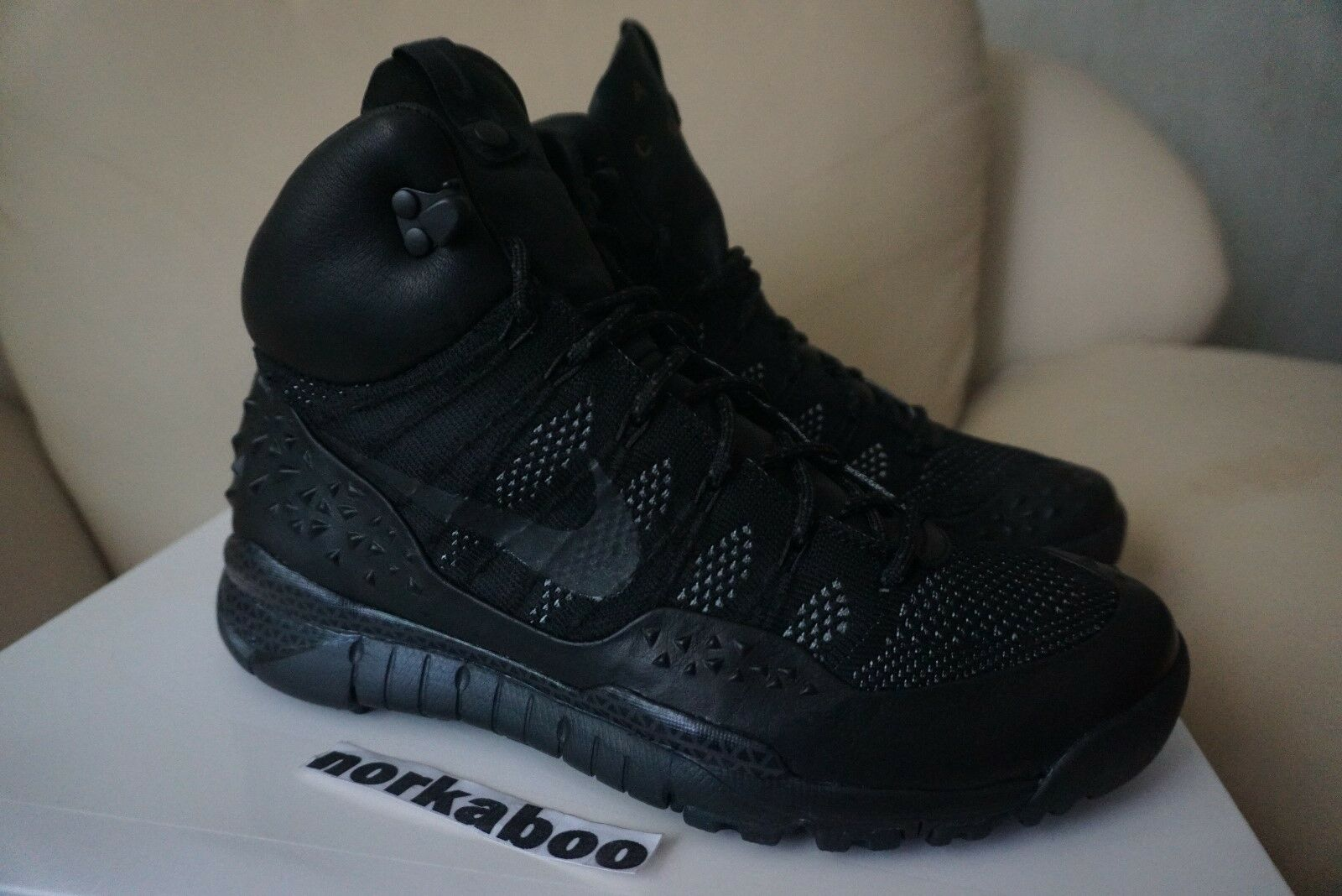 Nike Lupinek Flyknit ACG Boot Black Anthracite 826077-001 nikelab DS