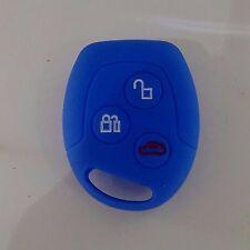 Ford Fiesta Focus Mondeo Ka Transit Silicone Car Key Cover Case Fob In Dark Blue