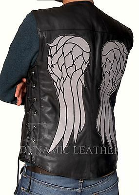 BNWT DARYL DIXON ANGEL WINGS LEATHER VEST JACKET THE WALKING DEAD GOVERNOR